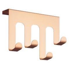 COLLIER Copper metal over door hooks