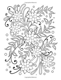 Simple Flower and Vine Designs: Easy Designs and Stress Relieving Patterns Adult Coloring Book (Adult Coloring Patterns) (Volume Easy Coloring Pages, Printable Adult Coloring Pages, Flower Coloring Pages, Mandala Coloring Pages, Coloring Books, Kids Coloring, Coloring Sheets, Floral Embroidery Patterns, Hand Embroidery