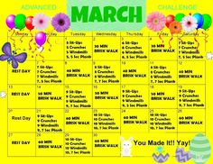 Crunches, Workout Challenge, Challenges, Weight Loss, March, Fitness, Facebook, Type 3, Theater