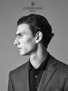 Corneliani taps model Thibaud Charon as the star of its spring-summer 2017 campaign. Photographer Johan Sandberg captures strong images for the striking… Face Drawing Reference, Profile Drawing, Art Reference Poses, Photo Reference, Male Profile, Profile View, Profile Photography, Portrait Photography, Face Angles