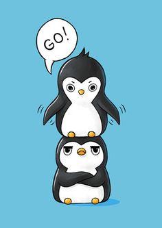 "Saatchi Online Artist Indrė Bankauskaitė; New Media, ""Penguins"" #art"