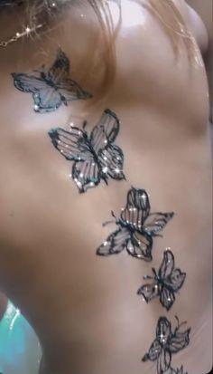 Pretty Hand Tattoos, Pretty Tattoos For Women, Flower Wrist Tattoos, Butterfly Thigh Tattoo, Red Ink Tattoos, Spine Tattoos, Body Art Tattoos, Girl Thigh Tattoos, Mom Tattoos