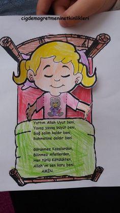 Ramadan Activities, Sunday School Activities, Sleep Prayer, Sweet Drawings, Bible Crafts For Kids, Islam For Kids, Baby Workout, Quran Quotes Inspirational, Infant Activities