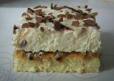 Mascarpone krémes almás süti!🌞 Krispie Treats, Rice Krispies, Hungarian Desserts, Cake Cookies, Biscotti, Vanilla Cake, Food And Drink, Cheese, Baking