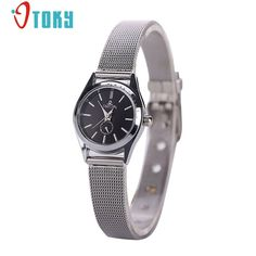 >> Click to Buy << OTOKY Wrist Watch women Luxury Silver Stainless Steel mesh Band Quartz Watches High quality #10 gift 1pcs #Affiliate