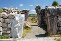 Hattusa was the capital of the Hittite Empire in the late Bronze Age. It was located near modern Boğazkale, Turkey.