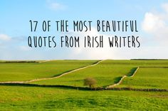 Celebrate St. Patrick's Day with these 17 wonderful Irish quotations.