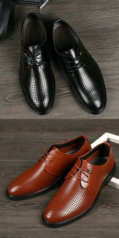 New Arrival Summer Mens Business Shoes Calcado Masculino Derby Shoes Pointed Toe Wedding Shoes Men Dress Hollow Out Shoes