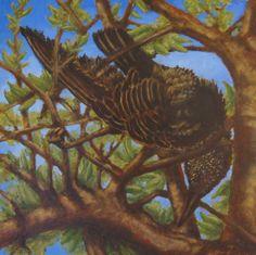 "Fallen Starling oil on panel 12""x12""  2014"