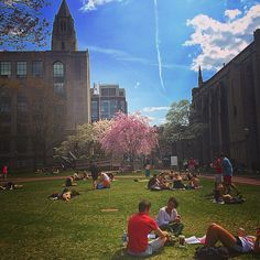 #Terriers are taking advantage of #Boston's above-average temps by moving their finals studying outdoors on #BU Beach.