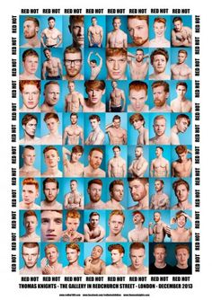 Red Hot Poster - Celebrate the RED HOT 100 hottest red haired men with this poster featuring just some of the guys. #redhot #redheads #ginger