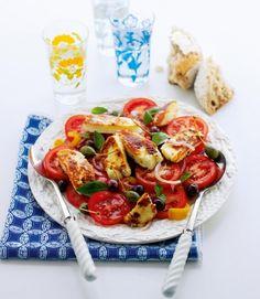 Haloumi-Mediterranean salad