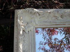 Seaside Chic Large Ornate Shabby Mirror French by ShabbySeaCottage