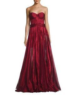 MARIA LUCIA HOHAN Strapless Metallic Gown. #marialuciahohan #cloth #gown