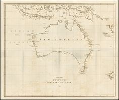 Antique map of Australia by Thomas Pennant, 1800.