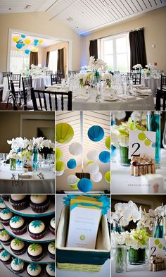 love all of this! pure white orchids, and pops of 2 amazing colors! Not necessarily for a wedding, but maybe a shower or other party?