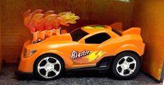 Orange Sports Car Toy Mad Machines Engine Blaster Lights Action Sounds