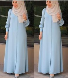 hijab yoga for men - Yoga Hijab Gown, Hijab Style Dress, Abaya Style, Hijab Outfit, Islamic Fashion, Muslim Fashion, Abaya Fashion, Fashion Dresses, Modele Hijab