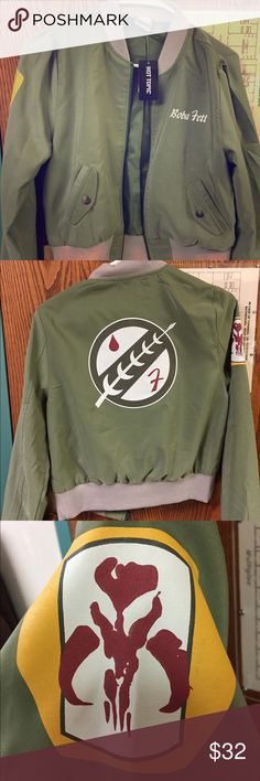 Small Boba Fett blazer jacket For the Star Wars girl, don't let them tell you that you can only be Princess Leia. Be a bounty hunter  Love the jacket just doesn't fit me right. Hot Topic Jackets & Coats Blazers