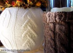 More Recycled Sweater Vases {Easy & Simple Fall Decor} - bystephanielynn