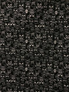 Items similar to Black/Silver Pirate Skulls & Swords - New on Etsy Pirate Skull, Skull And Crossbones, Black Fabric, Swords, Skulls, Black Silver, Pirates, Sew, Wallpapers