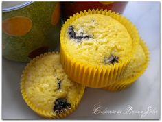 Muffins de laranja e blueberry