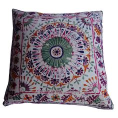 Large Ikat and Medallion Print Double Sided Pillow - $950 Est. Retail - $475 on Chairish.com