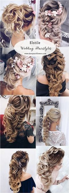 Elstile long wedding hairstyles #weddings #hairstyles #bridalhairtsyles #weddinghairstyles #fashion ❤️ http://www.deerpearlflowers.com/long-wedding-hairstyles-for-bride-from-elstiles/