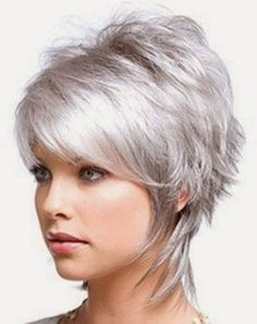 Short Shag Hairstyles Ideas for Women I love this hairstyle.  So cute...love the color but probably wouldn't go with it!