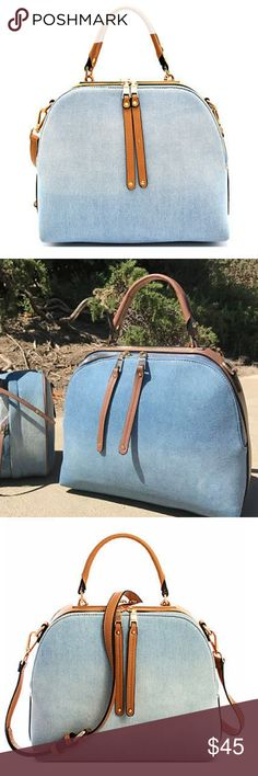 * H O T   P I C K  *100% VEGAN Denim wash hand bag New with tags Beyond The Fame Bags Baby Bags