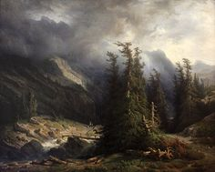 "François Diday, ""Path from Grimsel to Handeck,"" 1855, oil"