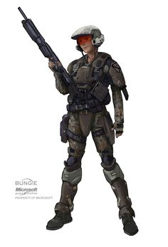 ArtStation - Halo Army Ranger explorations for Halo: REACH, Isaac Hannaford - This image makes me think of Alex's squad Gundam, Science Fiction, Halo Armor, Halo Series, Female Marines, Armadura Medieval, Halo Reach, Futuristic Armour, Sci Fi Armor
