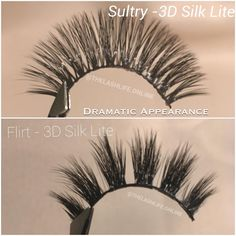 Affordable lashes! ✨Sultry and Flirt 3D Silk Lite will give you more of a dramatic look! • visit www.thelashlife.online (link in bio) • Free Shipping on orders over $15 worldwide 🌍