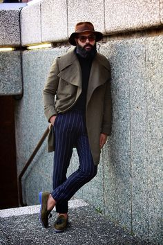 """angelbespoke:  I call my recent coat the """"Dumbo Militario"""". Email me at info@angelbespoke.com to inquire about having one made for you. Photo Cred: Neil Watson (A & H Magazine)"""