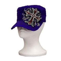 Leader Purple Rhinestone Cross Vintage Hat : Trendy Hats