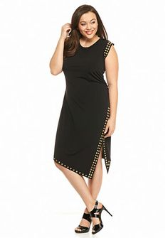9664f74bf3f0c MICHAEL Michael Kors Plus Size Stud Uneven Hem Dress