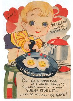 Vintage Valentine: Sunny Side Up by pageofbats, via Flickr