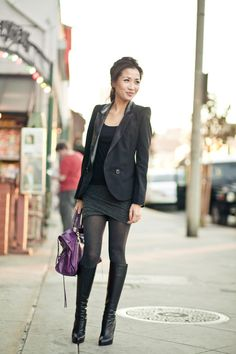 Gray Matter :: Structured Blazer & Twisted Skirt on @LoLoBu - http://lolobu.com/o/5902/