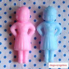 ・゜・☆。・゜。・。・゜・☆。・゜。・。・゜・☆。・゜。・。・゜・☆。♪林檎手芸店オリジナル♪発泡ウレタンなのでふわふわやわらか素材(*^ ^*)ピンク&ブル...|ハンドメイド、手作り、手仕事品の通販・販売・購入ならCreema。