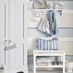 Fresh blue and white coastal hallway | Small hallway design ideas | Hallway | PHOTO GALLERY | Ideal Home | Housetohome.co.uk