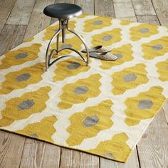 West Elm offers modern furniture and home decor featuring inspiring designs and colors. Create a stylish space with home accessories from West Elm. Yellow Rug, Mellow Yellow, Yellow Chairs, Grey Yellow, Color Yellow, My Living Room, Living Room Decor, Dining Room, Living Spaces