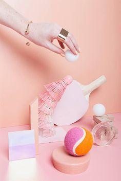 art direction | pink monochromatic still life, via kayleigh martens