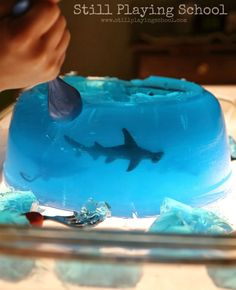 Still Playing School: Jello Ocean Exploration on the Light Table: A Safari Ltd. Review