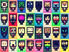 Retro pop art Minecraft characters. #minecraft omg so cute