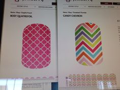 Rosy quatrefoil and candy chevron