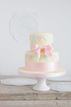 Pastel Heart Cake
