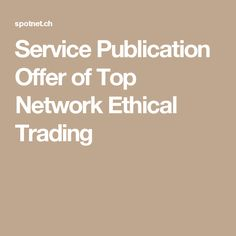 Service Publication Offer of Top Network Ethical Trading Public, Names, Top, Crop Tee