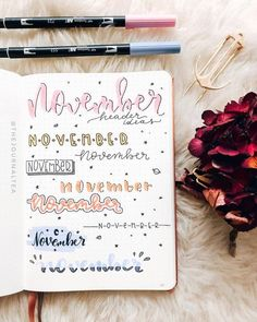 24 Insanely Simple Bullet Journal Header Ideas To Steal! - Need some bullet journal header ideas for beginners? This post is FOR YOU! The perfect way to live - Bullet Journal Writing, Bullet Journal Aesthetic, Bullet Journal 2019, Bullet Journal Ideas Pages, Bullet Journal Spread, Bullet Journal Inspo, Bullet Journal Fonts Hand Lettering, Tittle Ideas, Bellet Journal