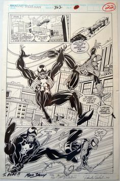 Amazing Spider-Man #362 page 16/22. Mark Bagley (Pencils) & Randy Emberlin (inks) Comic Art
