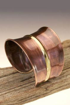 Copper and Bronze arm cuff from India